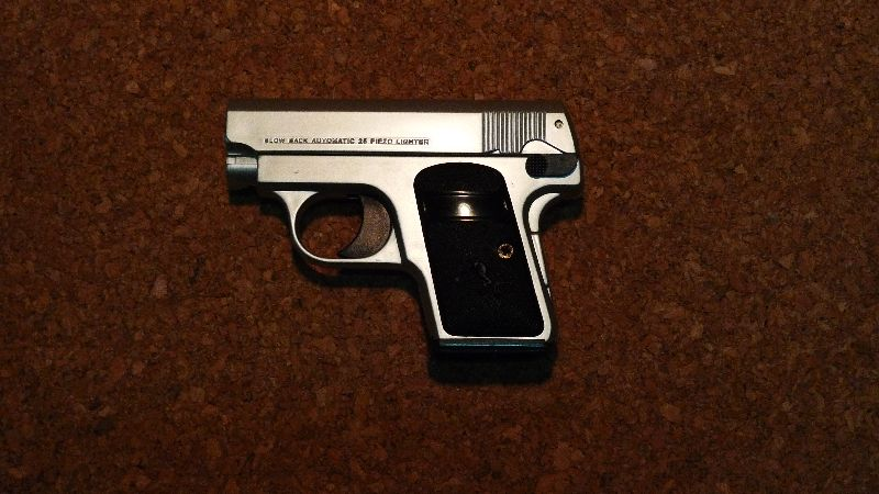 銃型ライターコルトポケット銀