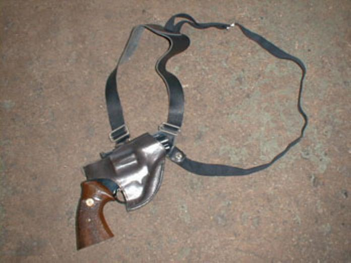 中型リボルバー用ショルダー黒B